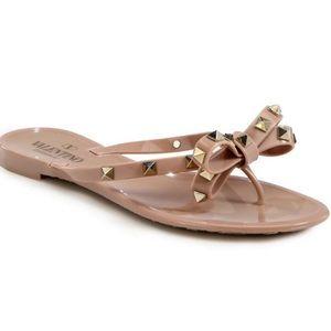 Valentino Garavani Rockstud Flat Thong Sandals